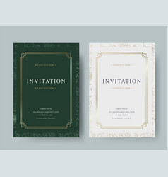 Vintage floral luxury invitation card template vector