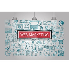 Web marketing iocns vector
