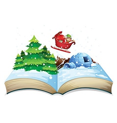 Winter book vector image