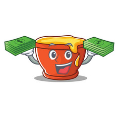 With money honey character cartoon style vector