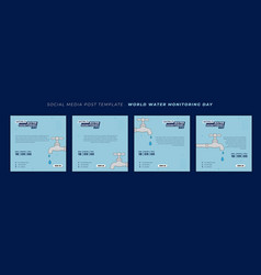 World water monitoring day design with dropping vector