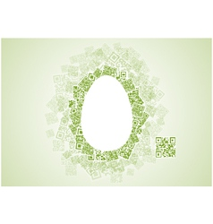 Easter Egg Shape Patchwork of QR Codes vector image
