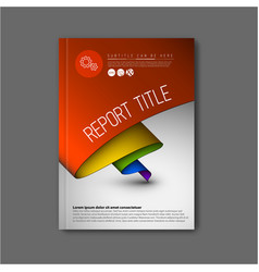 modern abstract brochure design template vector image vector image