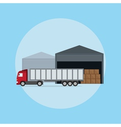 truck loading vector image