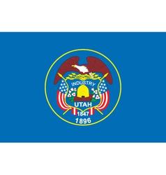 Utah flag vector image vector image