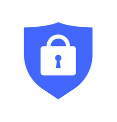 web security icon shield lock symbol guard badge vector image vector image