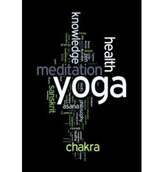 YOGA Word cloud concept vector image