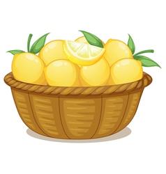 A basket of lemons vector image vector image