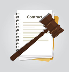 contract law concept of legal regulation judicial vector image
