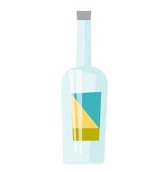 glass bottle for alcohol vector image