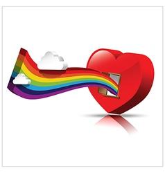 Just open heart happy valentine day 002 vector image vector image