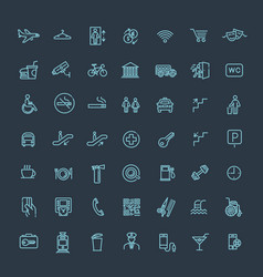 simple set of public navigation related vector image