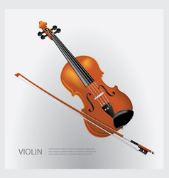 the musical instrument realistic violin vector image