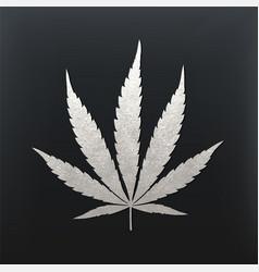 cannabis leaf vector image vector image
