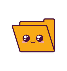 document folder icon vector image vector image