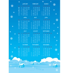new years calendar 2012 vector image