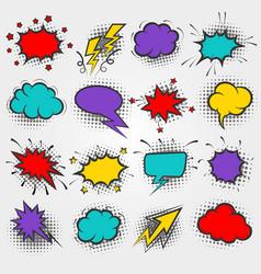 pop art comic speach bubbles vector image