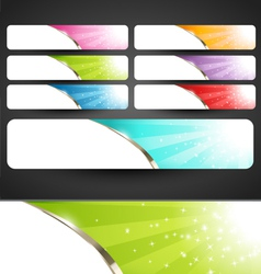 Premium Abstract Web Banners Set vector image vector image