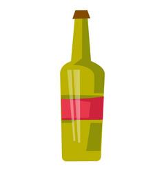 red wine bottle cartoon vector image