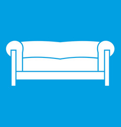 sofa icon white vector image vector image