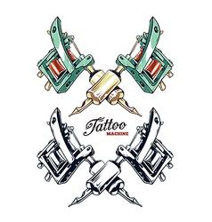 Tattoo Machines 2 vector image