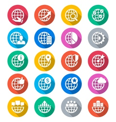 Business flat color icons vector image vector image