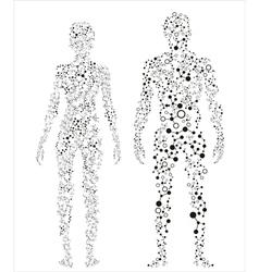 Human body molecular concept vector
