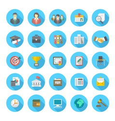 Round Flat Resume Icons vector image vector image
