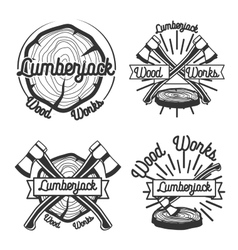 vintage lumberjack emblems vector image