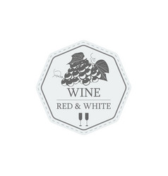 wine red and white label vector image