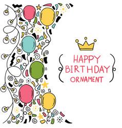 07-09-042 hand drawn party doodle happy birthday vector