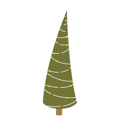 abstract christmas thin tree with trunk vector image