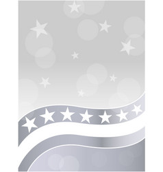 american flag stars grey white background vector image