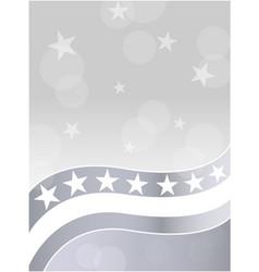 American flag stars grey white background vector