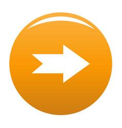 arrow icon orange vector image