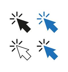 arrow pointer four options simple vector image