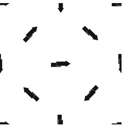 arrow to right pattern seamless black vector image