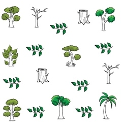 Art of tree doodles vector