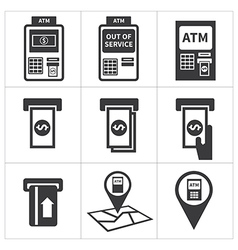 Atm icon set vector
