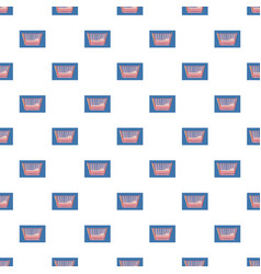 Baby bed pattern vector