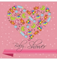 Baby Shower Invitation Card in vector image