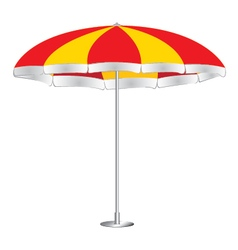 Beach umbrella isolated on white background Red vector image