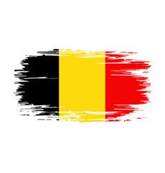 Belgian flag brush grunge background vector