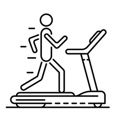boy at treadmill icon outline style vector image