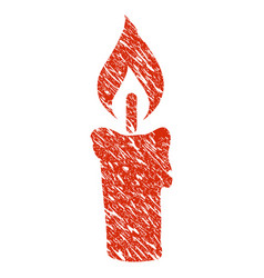candle icon grunge watermark vector image