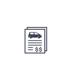Car loan or auto insurance icon vector