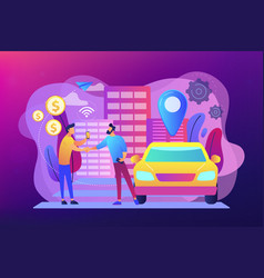 carsharing service concept vector image