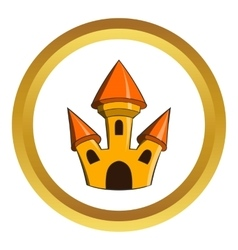 Castle icon vector