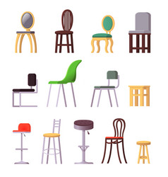chair comfortable seat in interior style vector image