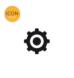 cogwheel or gear icon isolated flat style vector image